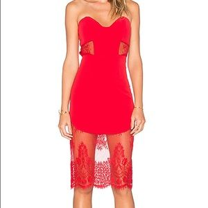 x REVOLVE Picture Me Dress in Red -NBD. NEW.